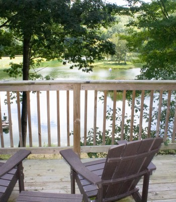 Lake House deck off loft
