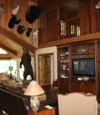Lake House great room and loft
