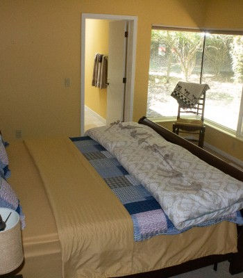 Lake House guest room 1 with private bath