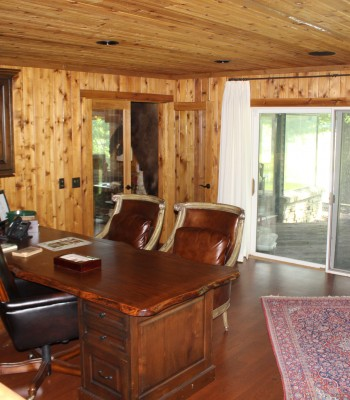Lake House office study