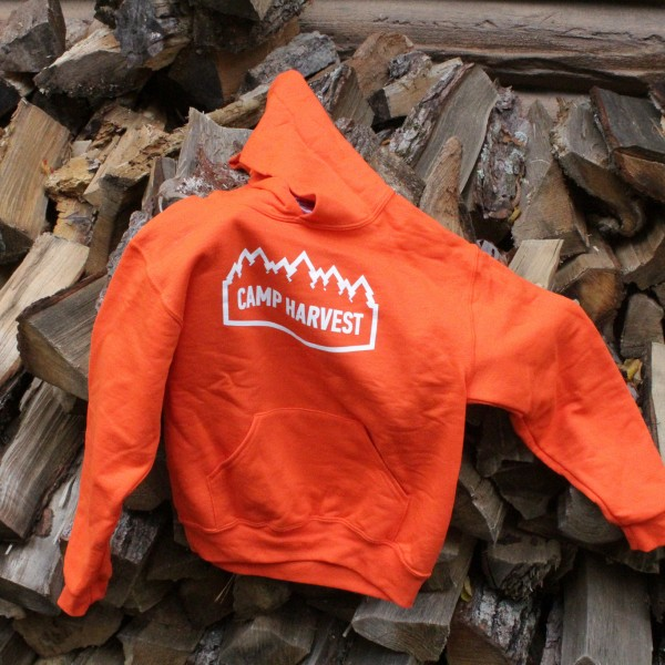 Camp Harvest Burnt Orange Sweat Shirt Hoodie