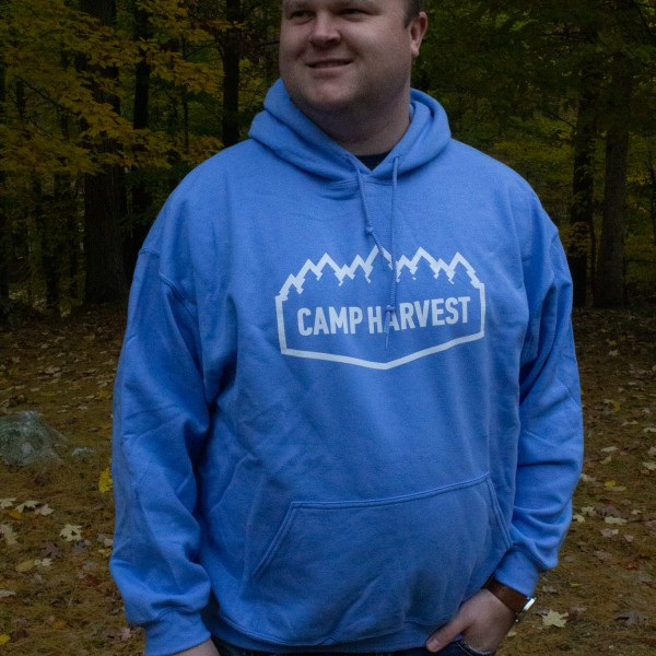 Camp Harvest Carolina Blue Sweat Shirt Hoodie