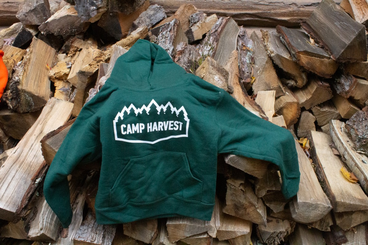 Camp Harvest Forest Green Sweat Shirt Hoodie