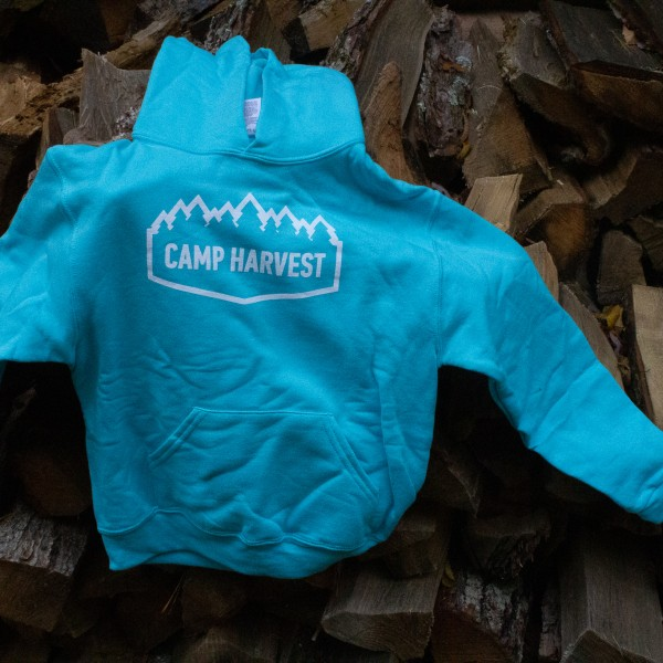 Camp Harvest Scuba Blue (Teal) Sweat Shirt Hoodie